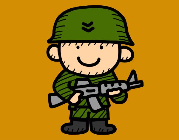 Dibujo de Soldado pintado por Charito en Dibujos.net el día 22-05 ...