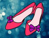 Dibujo Zapatos con lazos pintado por maitena