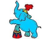 Dibujo Elefante pintado por mariposa1