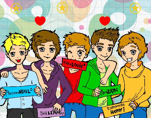 Dibujos Para Colorear De Chicos: Dibujo De Los Chicos De One Direction Pintado Por Fresi25