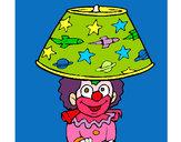 Dibujo Payaso lámpara pintado por leschot125