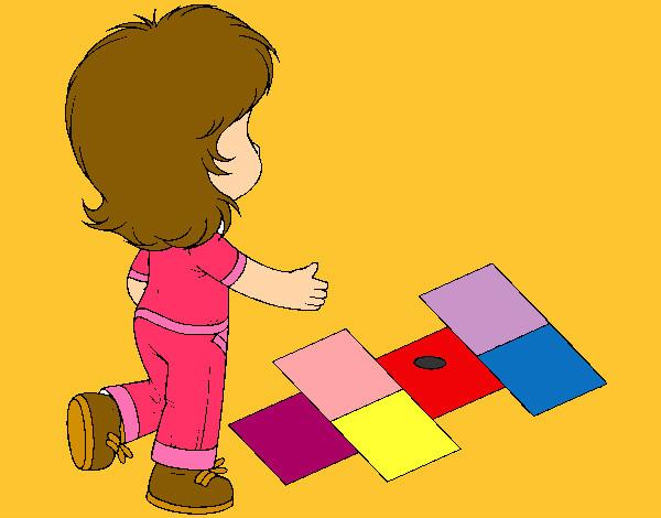 Rayuela Dibujo Para Colorear E Imprimir: Dibujo De Rayuela Pintado Por Marrujin En Dibujos.net El