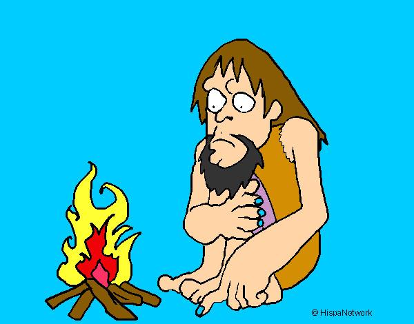 Dibujo de Descubrimiento del fuego pintado por Davitd en Dibujos