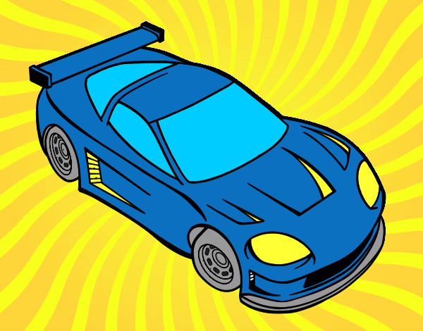 Dibujos de Coches de carreras para Colorear  Dibujosnet