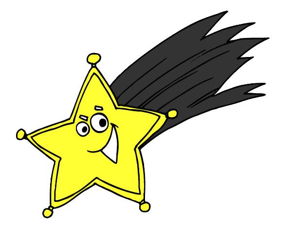 Dibujo de estrella fugaz pintado por valyis en for Estrella fugaz navidad