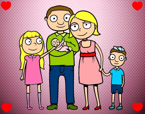 Dibujo de Familia unida pintado por Mirene456 en Dibujosnet el