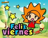 Dibujo Feliz viernes pintado por lorelorena