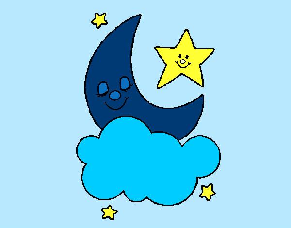 Imagenes Infantiles De Luna Dibujo De Luna Y Estrellas