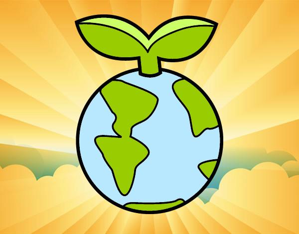 Dibujo de Planeta limpio pintado por Lunitadc en Dibujosnet el