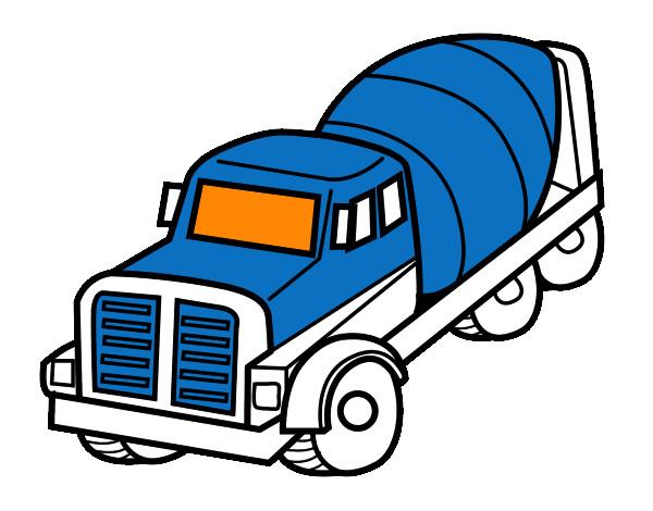 Dibujo De Camión Hormigonera Pintado Por Natalia17 En Dibujosnet El
