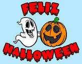 Dibujo Feliz Halloween pintado por edge