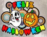 Dibujo Feliz Halloween pintado por yahir123