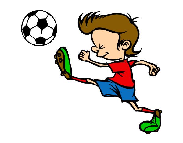 Dibujo De Jugador De Fútbol Con Balón Pintado Por Chicoxd: Dibujo De Jugador Chutando Pintado Por Andryk En Dibujos