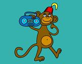 Dibujo Mono de circo pintado por J3ssi