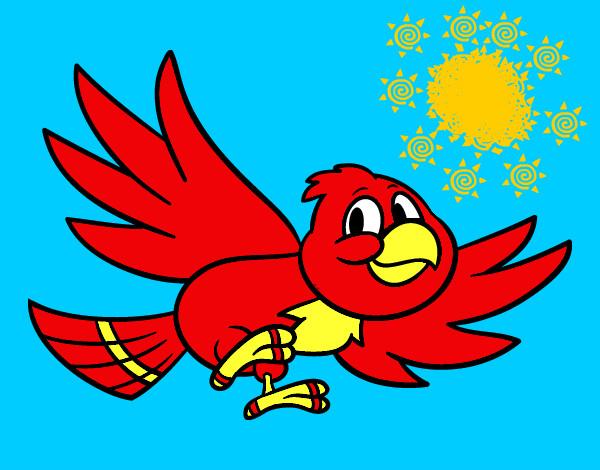 Dibujo de Pjaro volando pintado por Lucas2018 en Dibujosnet el