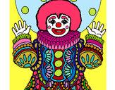 Dibujo Payaso disfrazado pintado por canisha