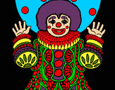 Dibujo Payaso disfrazado pintado por amalia