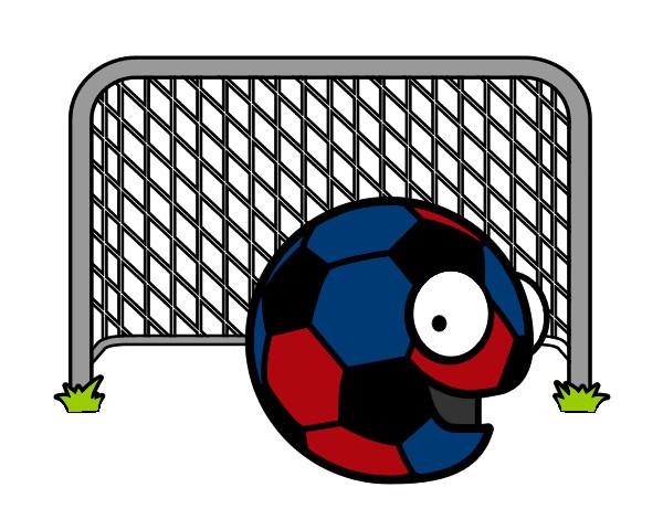 Dibujo De Jugador De Fútbol Con Balón Pintado Por Chicoxd: Dibujo De Balón En La Portería Pintado Por Goku_58 En