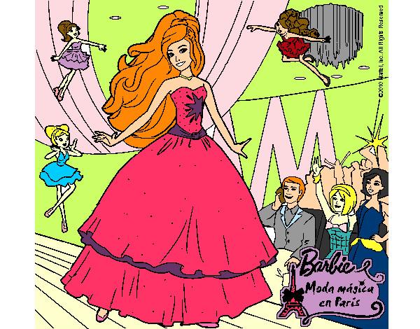 Dibujos de Barbie Moda mgica en Paris para Colorear  Dibujosnet