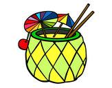 Dibujo Cóctel piña pintado por minium