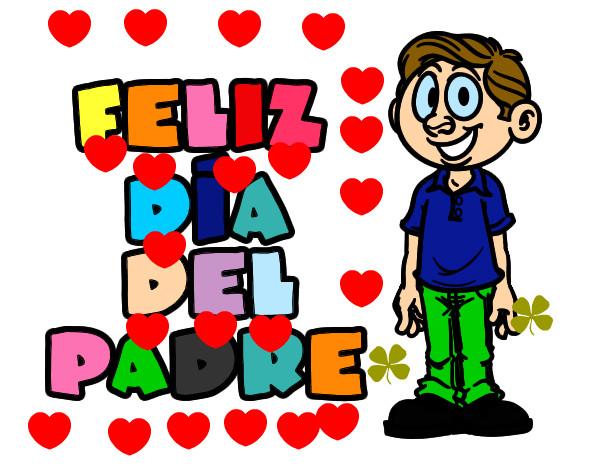 Dibujos Del Dia Del Padre Coloreados: Dibujo De Feliz Día Del Padre Pintado Por Ainy En Dibujos