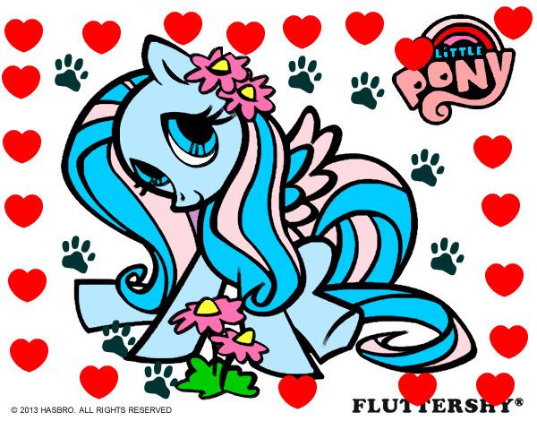 Dibujo De Fluttershy Para Colorear: Dibujo De Fluttershy Pintado Por Aruty En Dibujos.net El