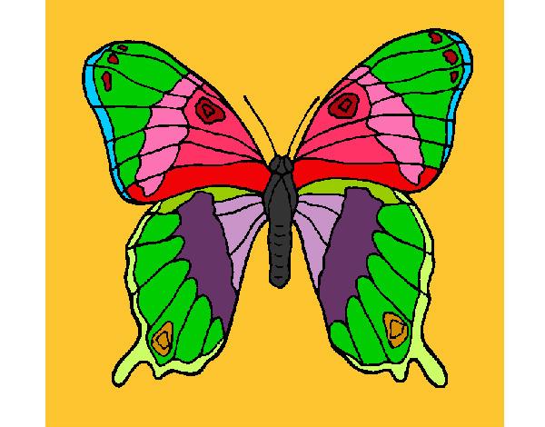 Dibujo De Mariposa 7a Pintado Por Yalin En Dibujosnet El
