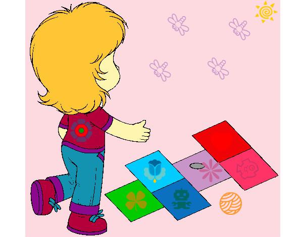 Rayuela Dibujo Para Colorear E Imprimir: Dibujo De Rayuela Pintado Por 1326ws En Dibujos.net El Día