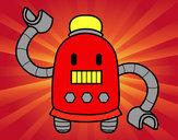 Dibujo Robot con largos brazos pintado por jorge312