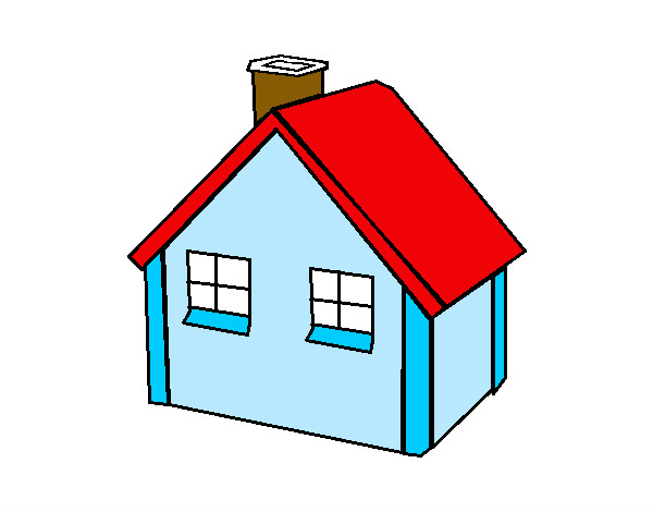 Dibujo de casa peque a pintado por flor2013 en for Imagenes de despachos en casa