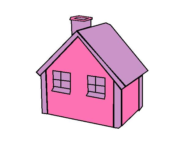 Dibujo De Casa Unifamiliar Americana Pintado Por Maryeloz