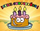 Dibujo Feliz cumpleaños pintado por albaluisle