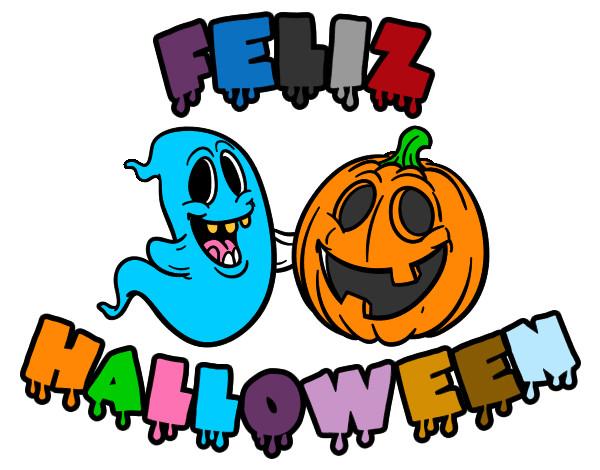 Dibujo de Feliz Halloween pintado por Rockerita en Dibujosnet el