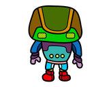 Dibujo Robot fuerte pintado por clararosad