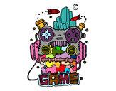 Dibujo Robot game pintado por azita