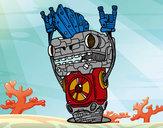 Dibujo Robot Rock and roll pintado por carlos50