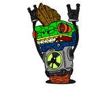 Dibujo Robot Rock and roll pintado por lorensoy