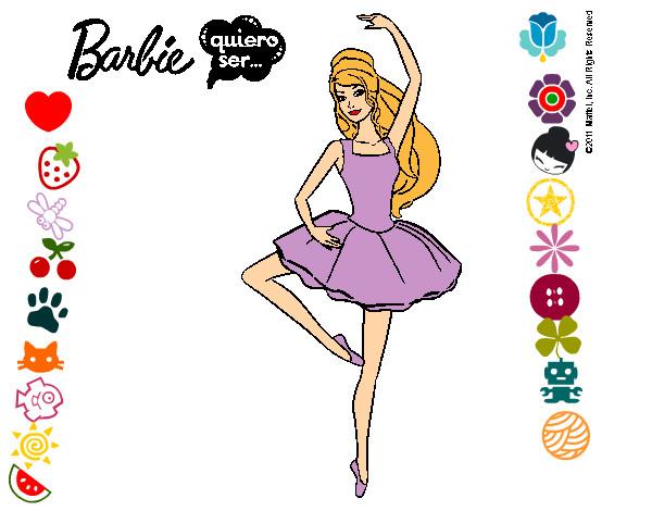 Dibujo de Barbie bailarina de ballet pintado por Clowden200 en