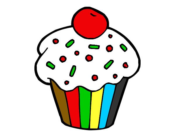 Dibujo de Brownie con cereza pintado por Santimaia en Dibujos.net el ...