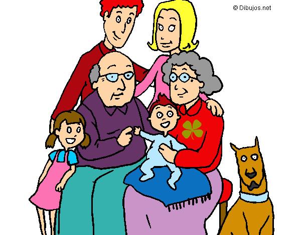 Worksheet. Dibujo de Familia pintado por Alma0 en Dibujosnet el da 240713