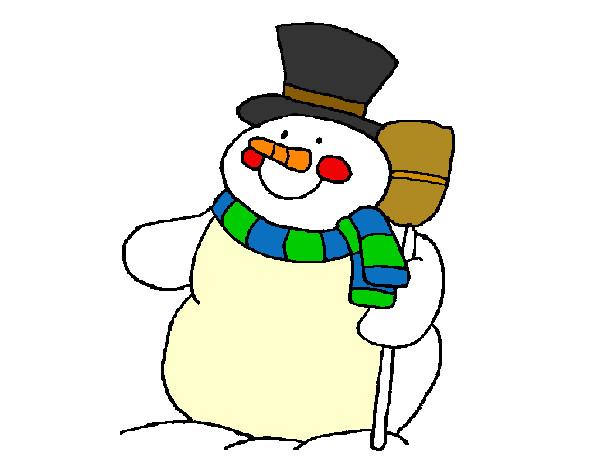 Muñeco De Nieve Dibujo: Dibujo Muneco De Nieve
