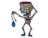 Dibujo Robot con un ratón pintado por mikez