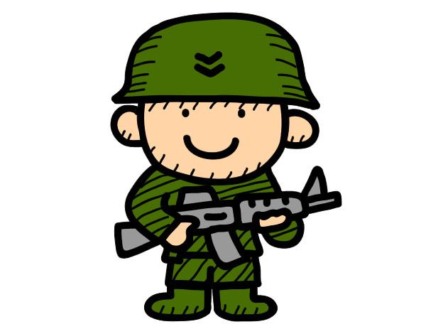 Dibujo de Soldado pintado por Gael56 en Dibujos.net el día 23-07-13 a