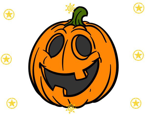 Dibujo de calabaza de halloween pintado por jossileth en for Calabaza halloween dibujo