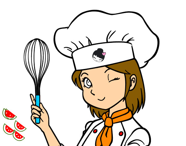 Dibujo de cocinera pintado por arischoool en - Dibujos de cocineros para colorear ...