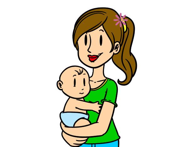 Dibujo de En brazos de mam pintado por Genesis23 en Dibujosnet