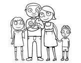 Dibujo Familia unida pintado por alicia2013