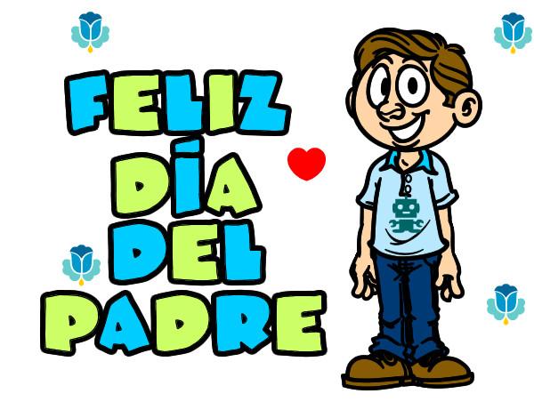 Dibujo de Feliz Día del Papá Te Quiero... Sabelo :) pintado por ...