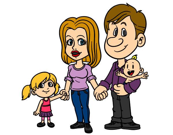 Dibujo De Familia Feliz Pintado Por Hellen034 En Dibujosnet El Día