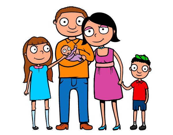 Dibujo de lo mejor de una familia es: que siempre te apoya aunque ...